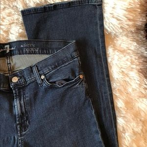 7 For All Mankind.  The Skinny Bootcut Denim Jean